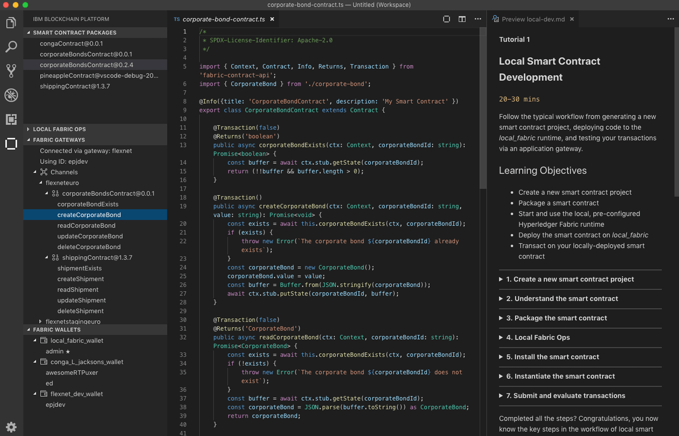 IBM Blockchain Platform - Visual Studio Code extension